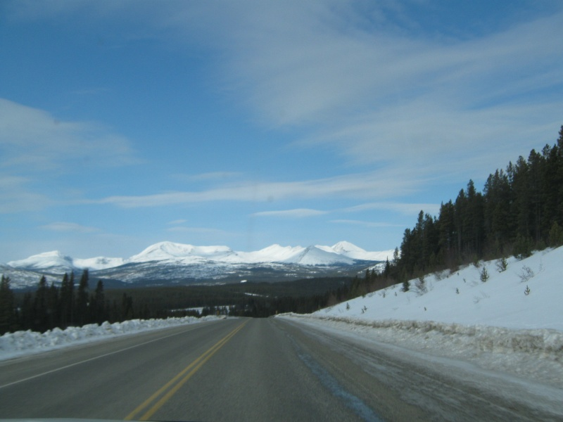 Alaska highway near Teslin
